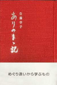 佐藤幸子著『ありのまゝ記』